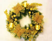 Alibaba new design Christmas decorations high end artificial elegant handmade Christmas wreaths