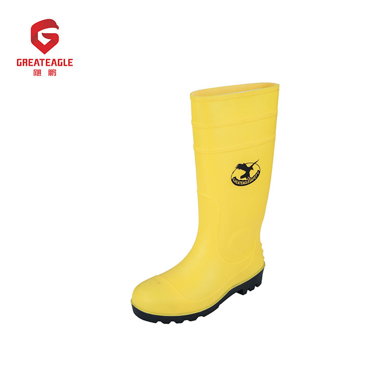 Nonslip wholesale pvc safety boots shoes steel toe safety rain men safety boots
