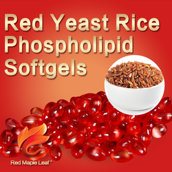 For Cholesterol Red Yeast Rice Extract Soy Lecithin Essence Softgels