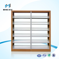 Luoyang high quality metal school library book racks / wrought iron book rack