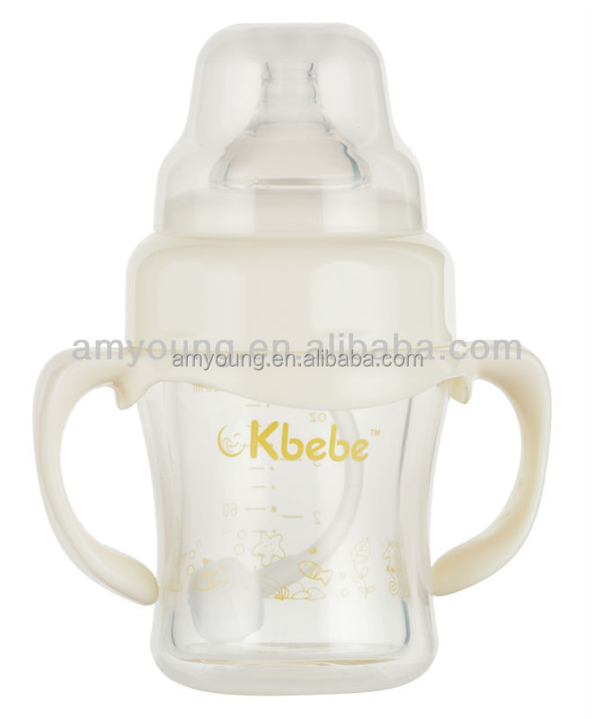 120ML big mouth funny baby feeding bottle, BPA free baby products