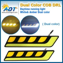 New Auto Led Fog Light, dual white amber led turn signal DRL