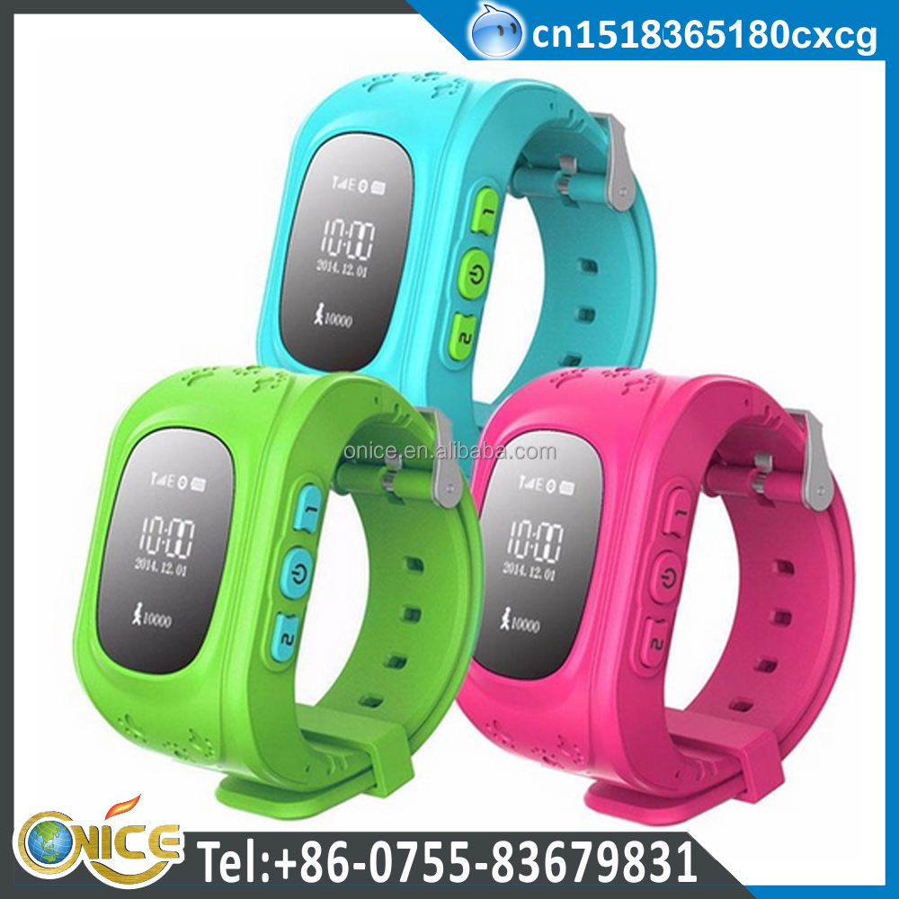 Tracker bluetooth anti-lost SOS MTK6261 CPU GSM unlocked Q50 kids GPS watch