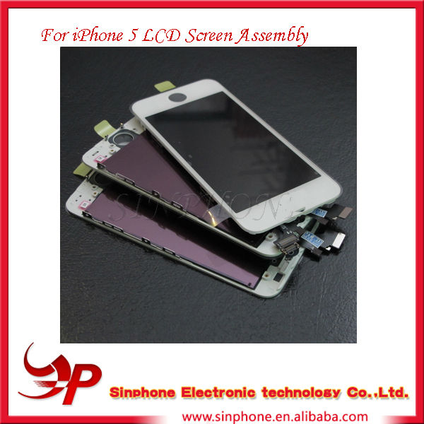 Mobile phone main board lcd assembly For Iphone 5 5G Replacement touch screen Display digitizer