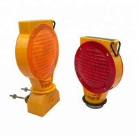 Hot led yellow flashing solar traffic light signal for road warning