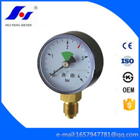 0-4bar Welding Oxygen Black ABS Case Normal Dry Gas Pressure Gauge
