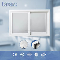 Dual glass home soundproof window design aluminium slide window