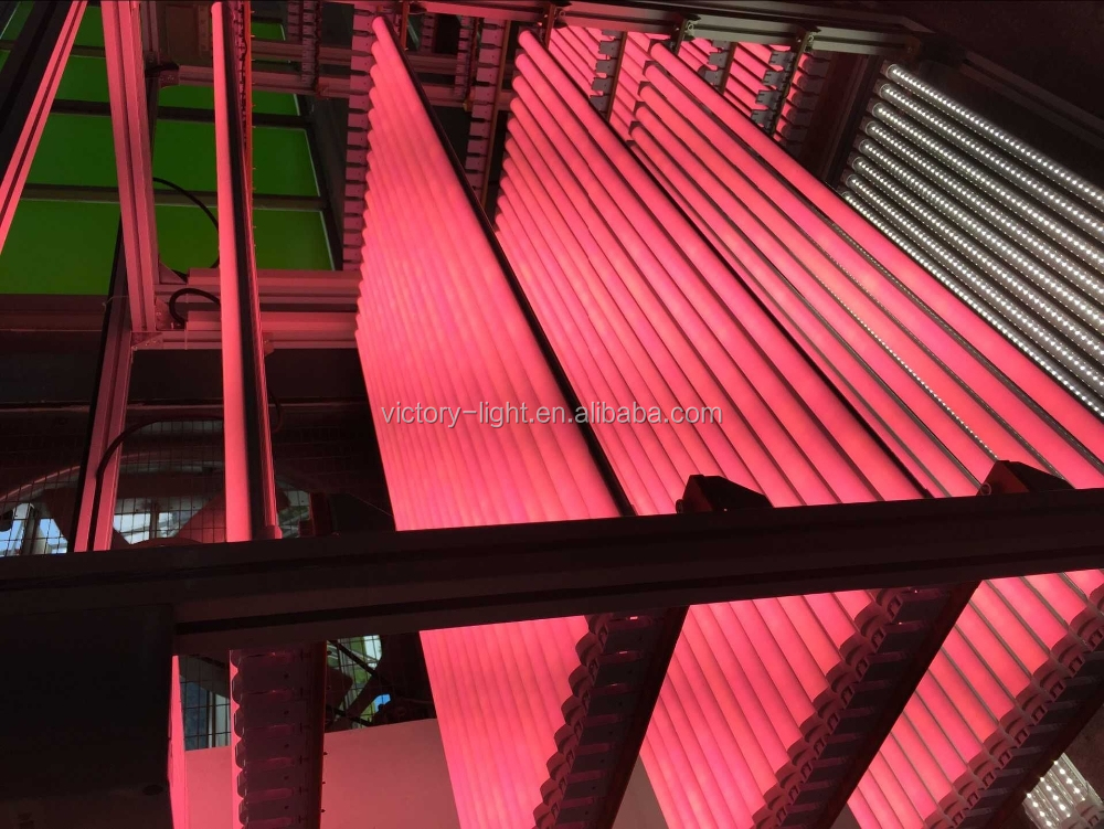 4ft 22w frosted cover sex pink tube animal 18 watt led red tube for meat in Supermarket