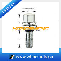 Variable PCD Hex ball seat wheel screw bolt