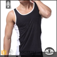 softextile Fashion 100 cotton tank top custom branded clothing/stringer tank top custom