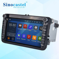 Sinocastel 8 inch Android 5.1.1 VW Universal car dvd player for vw polo caddy passat golf tiguan touran jetta skoda