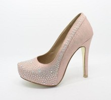 New sexy crystal platforms shoes high heels women rhinestones 12cm dress shoes