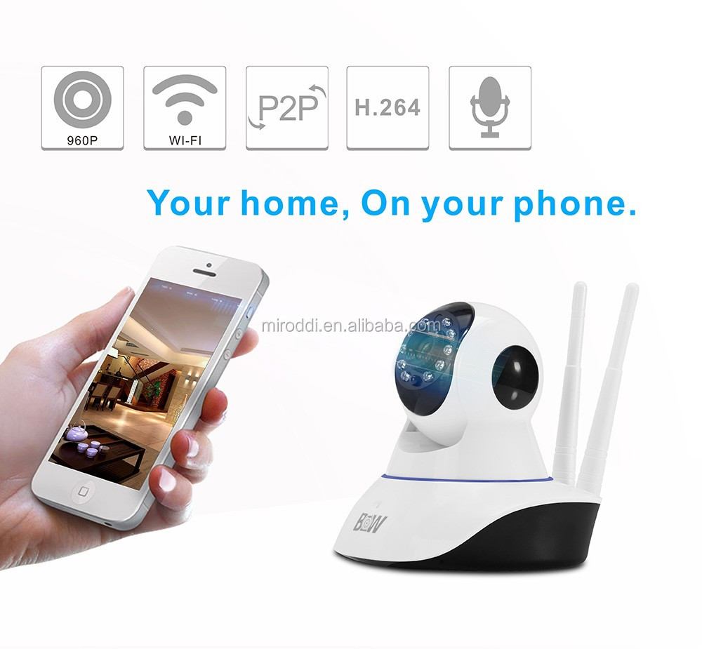 960P Wireless Motion Detection Wifi Support iOS/Android IP Camera with ONVIF Alarm Function