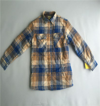 mens winter thick padded quilting flannel shirt