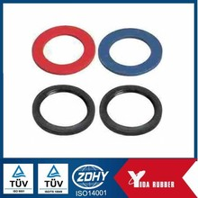 Silicone rubber flat gasket, led light round flat rubber gasket with heat proof