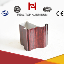 high quality house alu wood grain aluminum window extrusion profile