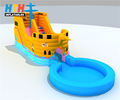 Customized design inflatable pirate ship water slide