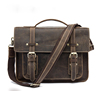 Vintage Full Grain Leather Men Handbag Briefcase Laptop Bag 9019