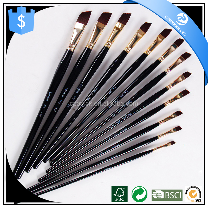 OEM Nylon Hair Artist Paint Brushes,Best Synthetic Watercolor Brushes