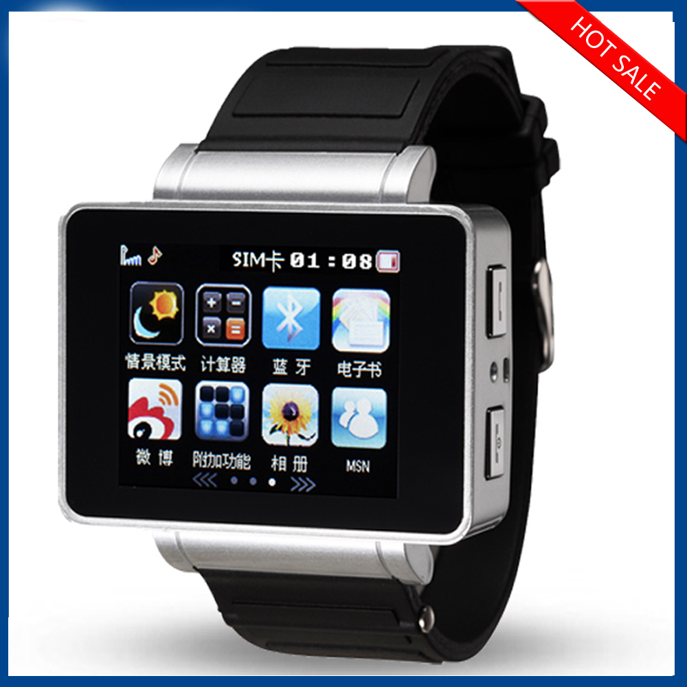 Good Quality Cell Phone Watch WIFI Fashion Watch SIM Card 3G Smart Watch Phone