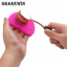 high quality Cosmetic cleaning tools Color Silicone shaped eggs Makeup Brushes Cleaner