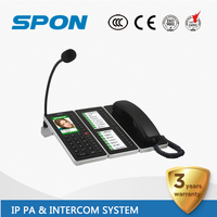 IP audio and video doorphone console