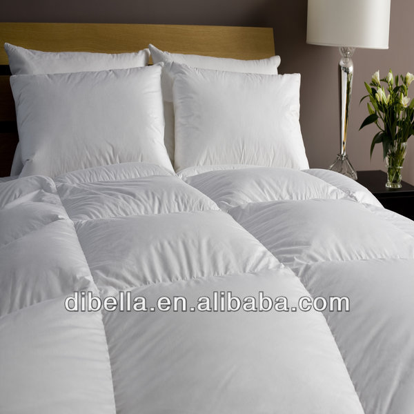 Pure cotton bedding fabric with white color of downproof feature