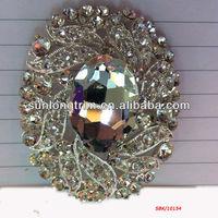 Bulk wholesale Large Rhinestone brooch for wedding