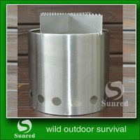 cheap Backpacker hoist lifting wood carbonization stove