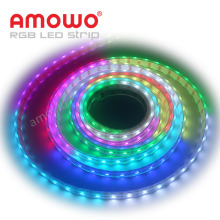 Sequential 5m Programmable UV 5050 SMD RGBW LED Strip RGB, 24V 12V Addressable DMX RGB LED Strip Digital