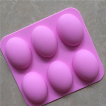 food grade silicone forms for soap making, non stick silicone forms for soap making,FDA 6 egg silicone forms for soap making