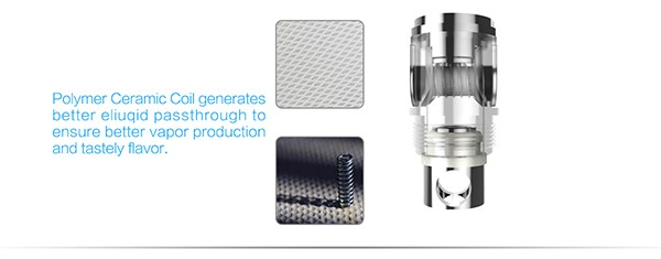 NEW Launched! Wholesale Price 1.0 ohm Ceramic Wick Tank, Rebuildable Ceramic Wick Tank