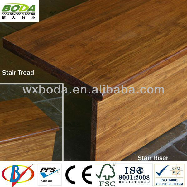 Carbonized Strand Woven Bamboo Stair Treads Moulding