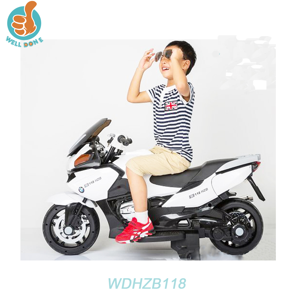 WDHZB118 Classic Design Battery Pedal Motorcycle, Best Quality Ride On Car For Kids To Play Two Speeds Mp3 Port