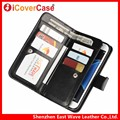Multifunction 2 in 1 Detachable Magnetic Wallet Crazy Horse Leather Case Cover for Samsung Galaxy S7 edge with 11 Card Holder