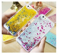 beautiful phone cases pc glitter flowing liquid star for iphone 6 for sumsang