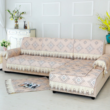 Hot sale india most professional manufacturer latest desgin lace edge flannel fabric sofa cover
