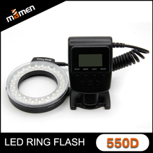 Cheapest Manufactory Ring Led Flash Multicolour Camera Flash Light Speedlite For Universal DSLR Camera