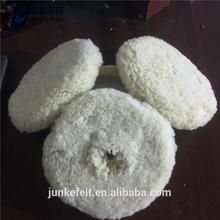 Plastic high quality lamb wool car buffing and polishing pad with high quality