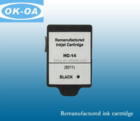 Wholesale shanghai factory high quality hot sale printer For HP14 BK C5011DE ink cartridge Remanufactured inkjet cartridge