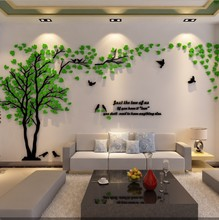 Home decor adhesive acrylic 3d wall sticker For Kids Room Decor Wall sticker
