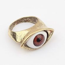 Top Fashion Women Artificial Tin Alloy Trendy Jewelry Fine Jewelry Vintage Style Lifelike Eye Ring