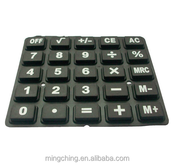 Custom rubber silicone keyboard for Electronic Components