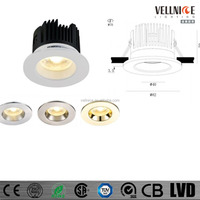Waterproof/ bathroom IP65 10W interchangable bezel fire rated LED downlight/10w led down light