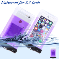 100% waterproof pvc phone bag for general mobile 4g phone bag case with lanyard
