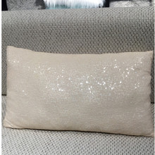 30*50CM Outdoor Furniture Chair Decorative Custom Two Tone Color Changing Sequin Throw Pillow Cushion Cover Wholesale