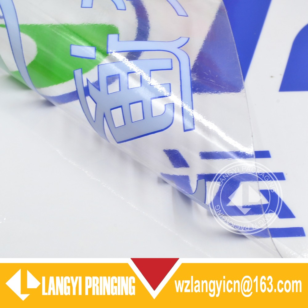 Custom Waterproof vinyl transparent stickers and clear stickers labels