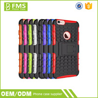 Heavy Duty Shockproof Hybrid TPU Bumper Back Cover PC Case for IPhone 6 4.7 Inch Rugged Phone Case