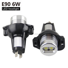 6W Canbus led angle eyes lighting for B-M-W E87 E90 M3 E82 E92 E60 X5 X6 E89 color change led halo light
