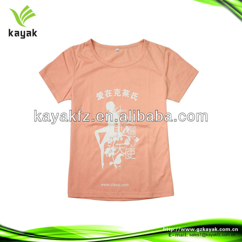 2013 100 cotton wholesale t shirts for women short sleeve